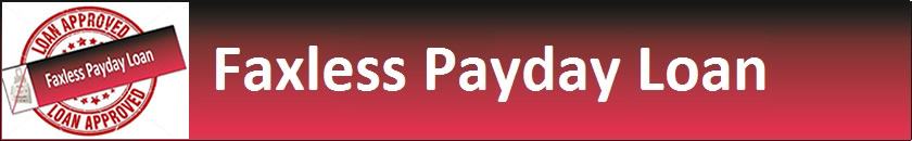 No Fax Payday Loan Header